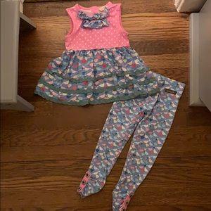 Matilda Jane Bird Print Outfit size 4